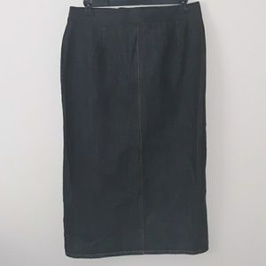 Faded Glory Blue Jean Skirt Size 14